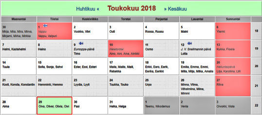 Viikko Kalenteri